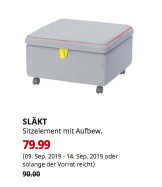IKEA SLÄKT Sitzelement mit Aufbewahrung,61x61x36 cm - jetzt 11% billiger