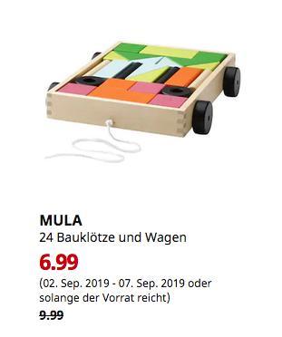 IKEA Walldorf - MULA 24 Bauklötze und Wagen - jetzt 30% billiger