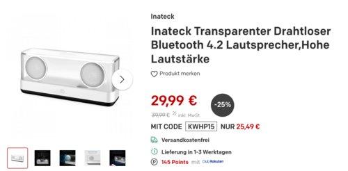 inateck BP2003 Bluetooth-Lautsprecher, 2x12W - jetzt 36% billiger