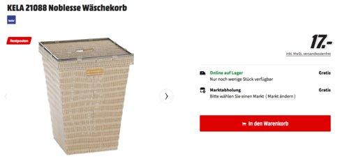 KELA 21088 Noblesse Wäschekorb aus Kunststoffgeflecht, creme - jetzt 66% billiger
