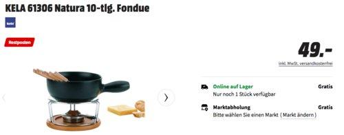 KELA 61306 Natura Fondue-Set, 10-tlg. - jetzt 16% billiger