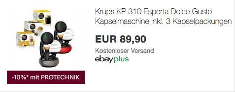 Krups KP 310 Esperta Dolce Gusto Kapselmaschine inkl. 3 Kapselpackungen, grau oder rot - jetzt 10% billiger