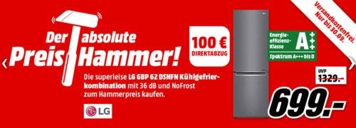 LG GBP 62 DSNFN Kühlgefrierkombination (A+++, 2030 mm hoch, Dunkelgrau) - jetzt 14% billiger