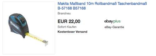 Makita B-57168 10m Maßband/Taschenbandmaß - jetzt 26% billiger