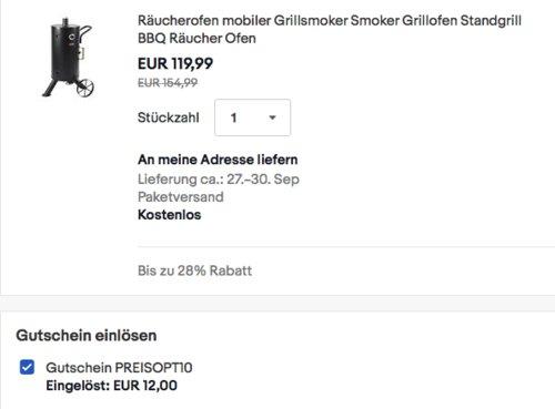 Mayer Barbecue RAUCHA Räucherofen MRO-100 Pro, Holzkohle - jetzt 10% billiger