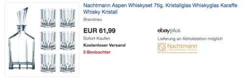 Nachtmann Aspen Whiskyset Kristallglas, 7-tlg. - jetzt 6% billiger