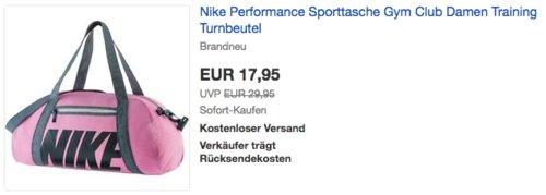 Nike Performance Damen  Sporttasche Gym Club, pink - jetzt 18% billiger