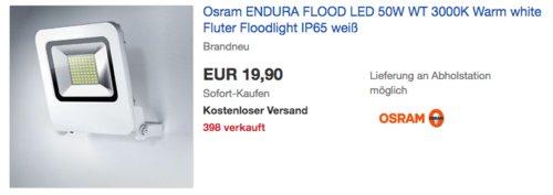 Osram ENDURA FLOOD 50W LED-Wandleuchte, weiß - jetzt 23% billiger