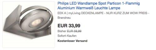 Philips 531504816 myLiving 6Watt LED-Spot, 1-Flammig - jetzt 15% billiger