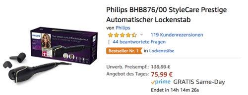 Philips BHB876/00 StyleCare Prestige Automatischer Lockenstab - jetzt 17% billiger