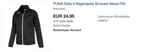 PUMA Esito 3 Herren Regenjacke, schwarz - jetzt 7% billiger