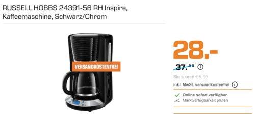 RUSSELL HOBBS 24391-56 RH Inspire Kaffeemaschine, schwarz - jetzt 22% billiger
