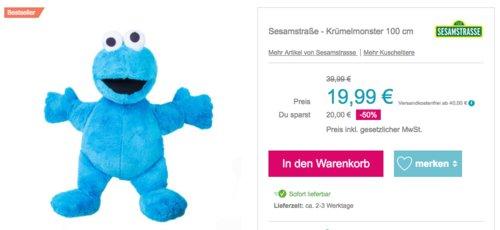 Sesamstraße - Krümelmonster 100 cm - jetzt 22% billiger