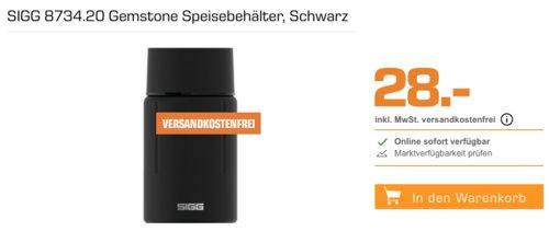 SIGG 8734.20 Gemstone  0,75 Liter Speisebehälter, schwarz - jetzt 30% billiger