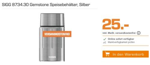 SIGG 8734.30 Gemstone 0.75 Liter Thermo-Speisebehälter, silber - jetzt 37% billiger