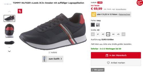 """TOMMY HILFIGER  Herren Sneaker """"Leeds 3C3"""", navy oder weiß-grau - jetzt 23% billiger"""