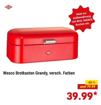 """Wesco Brotkasten """"Grandy"""" 42 x 23 x 17 cm, versch. Farben - jetzt 16% billiger"""