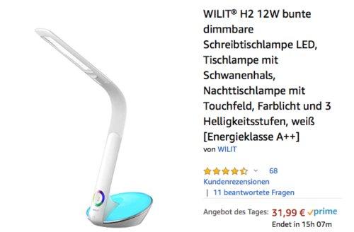 WILIT H2 12W dimmbare LED-Schreibtischlampe, weiß - jetzt 20% billiger