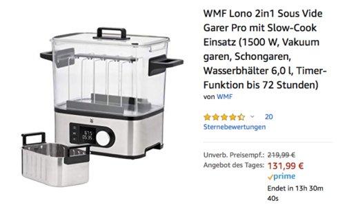 WMF Lono 2in1 Sous Vide Garer Pro mit Slow-Cook Einsatz, 6,0 Liter - jetzt 27% billiger