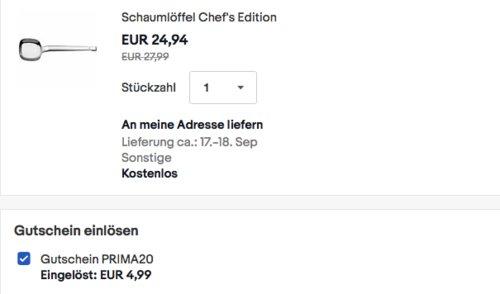 WMF Schaumlöffel Chef's Edition, 35,7 cm - jetzt 20% billiger