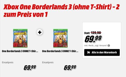 Xbox One Borderlands 3 - 2 Stück zum Preis von 1 - jetzt 50% billiger