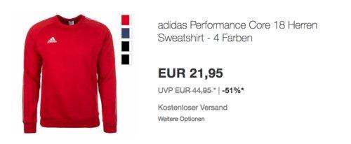 adidas Performance Core 18 Herren Sweatshirt, versch. Farben und Größen - jetzt 11% billiger