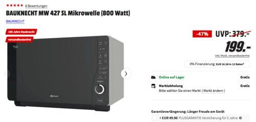 BAUKNECHT ExtraSpace MW 427 SL Mikrowelle mit Grill- und Dampfgarfunktion - jetzt 13% billiger