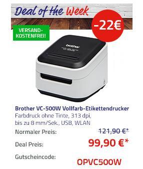 Brother VC-500W Vollfarb-Etikettendrucker - jetzt 18% billiger