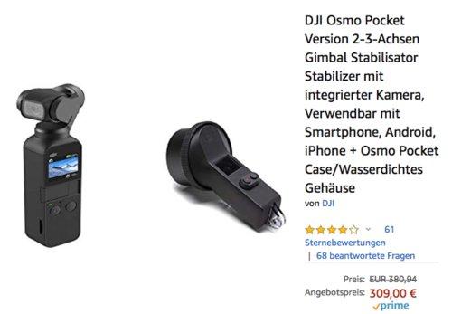 DJI Osmo Pocket Version 2-3-Achsen Gimbal inklusive Osmo Pocket Case/Wasserdichtes Gehäuse - jetzt 14% billiger