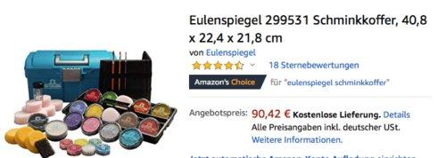 Eulenspiegel 299531 Schminkkoffer (40,8 x 22,4 x 21,8 cm) - jetzt 15% billiger