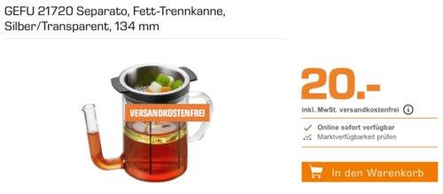 GEFU 21720 Separato Fett-Trennkanne, 0,5 Liter - jetzt 20% billiger