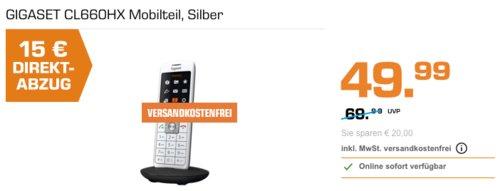 GIGASET CL660HX Mobilteil, Silber (schnurloses IP-Telefon) - jetzt 30% billiger