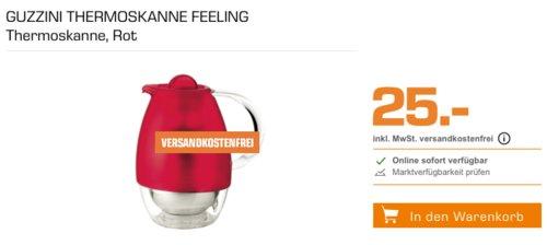 GUZZINI Thermoskanne Feeling 1 Liter, rot - jetzt 17% billiger
