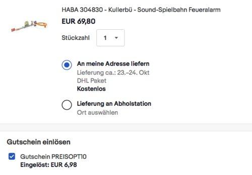 """HABA 304830 Kullerbü Sound-Spielbahn """"Feueralarm"""" aus Holz - jetzt 10% billiger"""