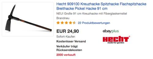 Hecht 909100 Kreuzhacke/Flachspitzhacke, 91 cm - jetzt 17% billiger