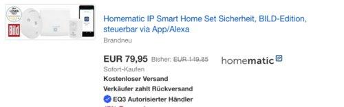 Homematic IP Smart Home Set Sicherheit in BILD-Edition, steuerbar via App/Alexa - jetzt 19% billiger