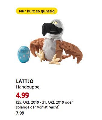 IKEA Berlin-Spandau - LATTJO Handpuppe, Adler - jetzt 38% billiger