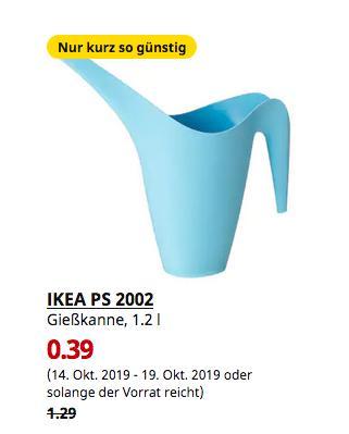 IKEA Berlin-Waltersdorf - PS 2002 Gießkanne, hellblau, 1.2 l - jetzt 70% billiger