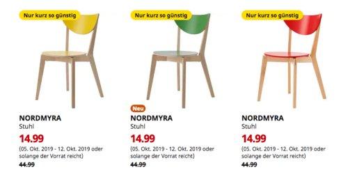 IKEA Brinkum - NORDMYRA Stuhl (gelb, grün oder rot) - jetzt 67% billiger