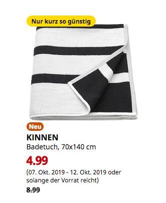 IKEA Dortmund - KINNEN Badetuch, weiß/schwarz, 70x140 cm - jetzt 44% billiger