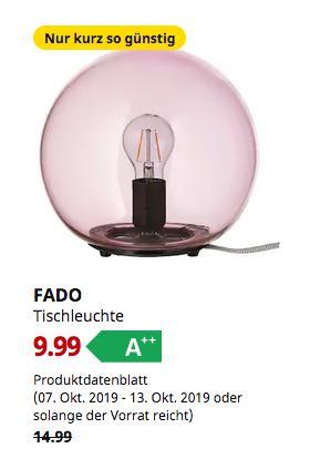 IKEA Dresden - FADO Tischleuchte, rosa - jetzt 33% billiger