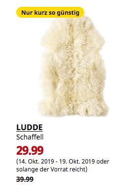 IKEA Dresden - LUDDE Schaffell, elfenbeinweiß weiß, 90x55 cm - jetzt 25% billiger