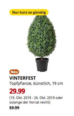 IKEA Duisburg - VINTERFEST Topfpflanze, künstlich, drinnen/draußen Buchsbaum, 82 cm hoch - jetzt 50% billiger