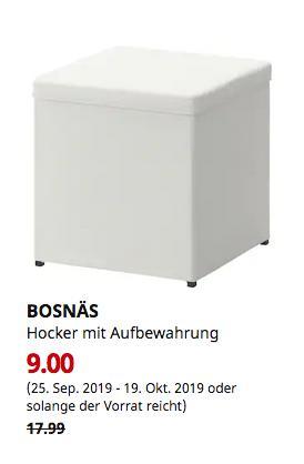 IKEA Essen - BOSNÄS Hocker mit Aufbewahrung, Ransta weiß - jetzt 50% billiger