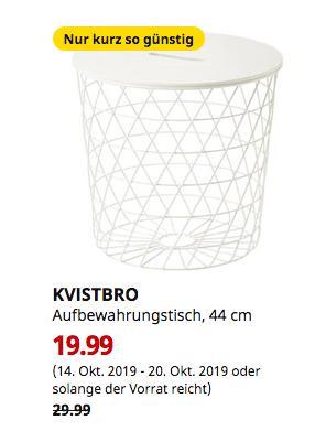 IKEAFrankfurt - KVISTBRO Aufbewahrungstisch, weiß, 44 cm - jetzt 33% billiger