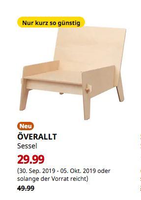 IKEA Großburgwedel - ÖVERALLT Sessel, Sperrholz - jetzt 40% billiger