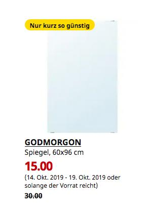IKEA Hamburg-Moorfleet - GODMORGON Spiegel, 60x96 cm - jetzt 50% billiger
