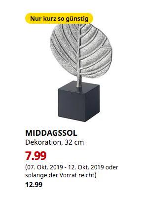 IKEA Hamburg-Moorfleet - MIDDAGSSOL Dekoration, Blatt silberfarben, 32 cm - jetzt 38% billiger