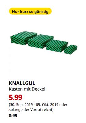 IKEA Hannover EXPO-Park - KNALLGUL Kasten mit Deckel, 8-teilig - jetzt 33% billiger