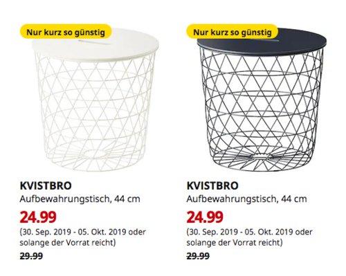 IKEA Kaarst - KVISTBRO Aufbewahrungstisch, 44 cm, dunkelblau oder weiß - jetzt 17% billiger